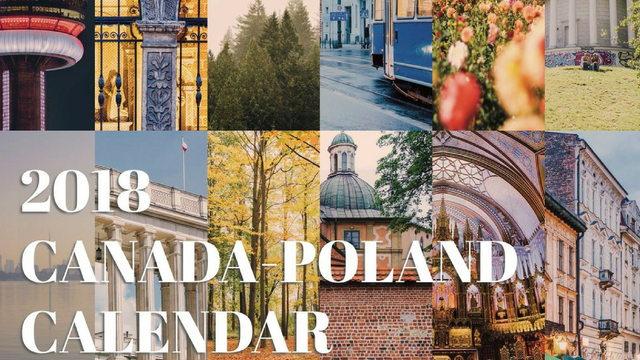 Canada-Poland 2018 Calendar
