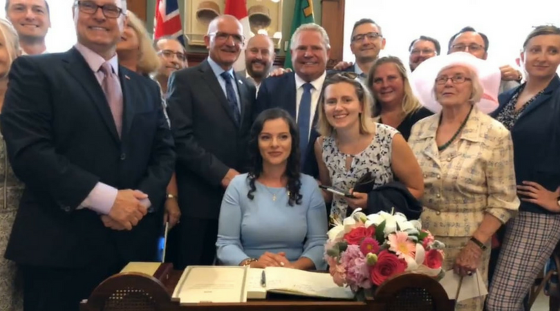 MPP Natalia Kusendova, Swearing-In Ceremony